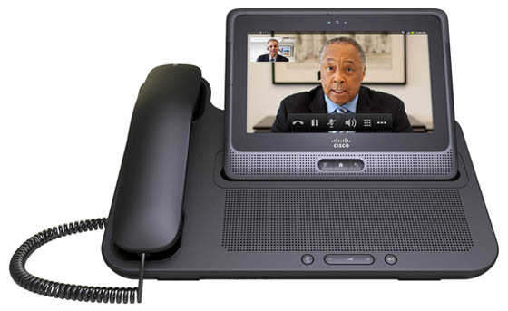 The Cius in its desktop-hogging handset/speakerphone base