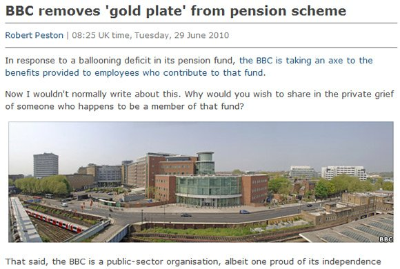 The BBC finally sticks its own photo on the piece