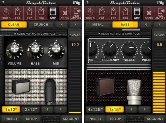 IK Multimedia's iRig and AmpliTube iPhone app - amplifiers