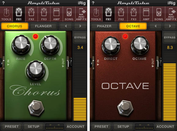 IK Multimedia's iRig and AmpliTube iPhone app - effects