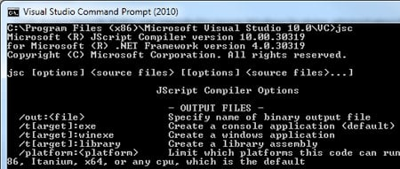 Microsoft's Jscript.net