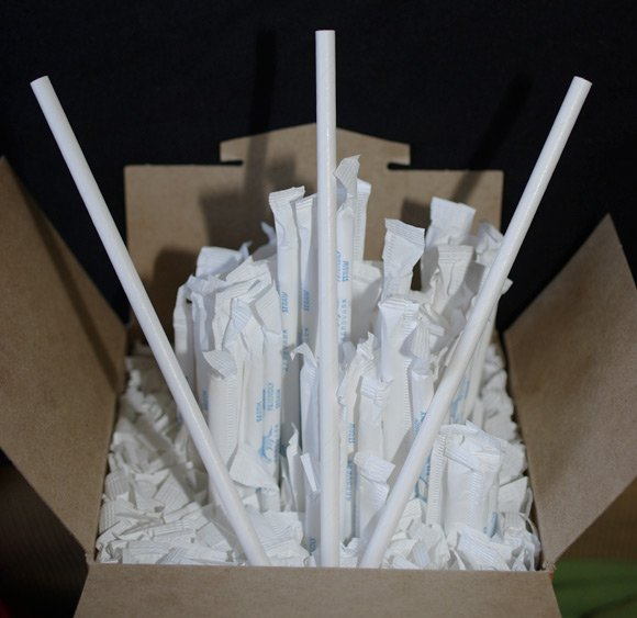 The shipment of paper straws