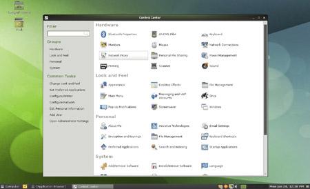OpenSUSE 11.3 control center