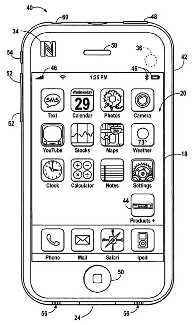 Apple product-information patent illustration