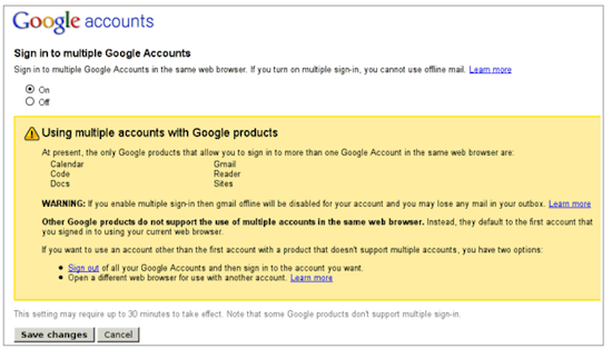 Google multiple accounts tool