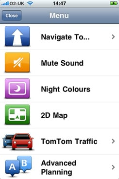TomTom Mobile Navigation for iPhone v1.3