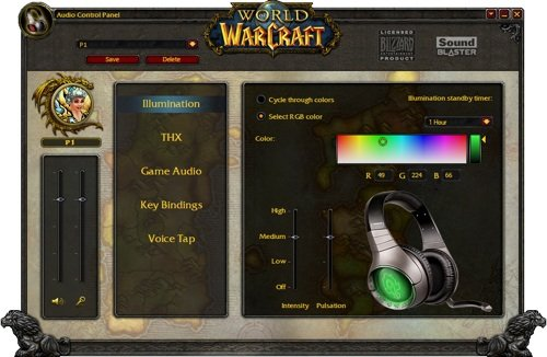 Creative World of Warcraft headphones