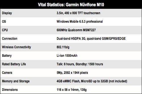 Garmin Nuvifone M10