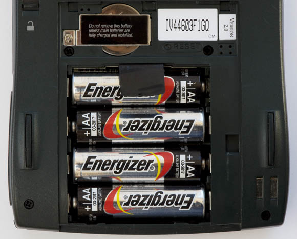 Newton MessagePad 120 - batteries