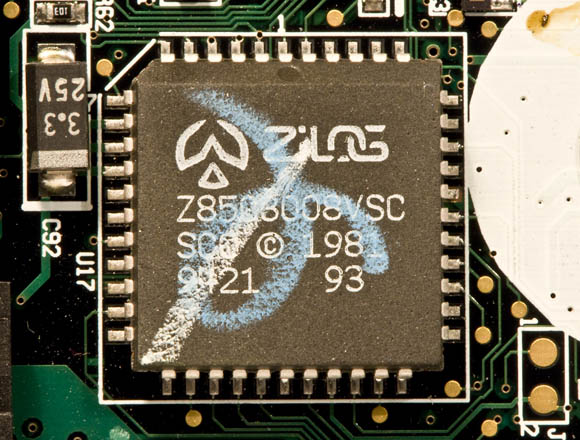 Newton MessagePad 120 - unknown Zilog chip