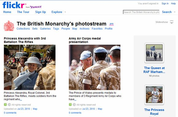The British Monarchy Flickr page
