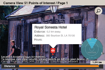 Screen shot of the Lonely Planet application