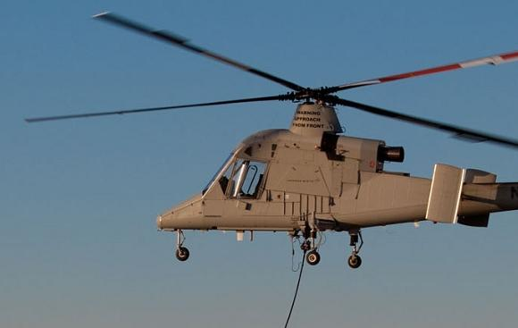 The unmanned cargo version of the Kaman K-Max helicopter. Credit: Lockheed