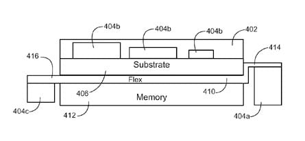 Apple 'system-on-substrate' patent-filing illustration
