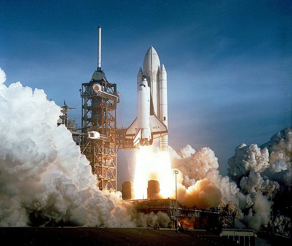 The 1981 launch of Columbia. Pic: NASA