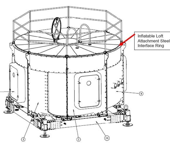 Prototype hardshell habitat module for extraterrestrial bases. Credit: NASA