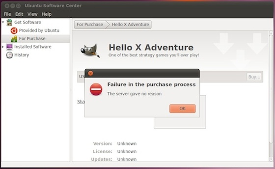 Ubuntu 'For Purchase' Software Center