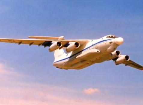 The Beriev A-60 laser aircraft in flight