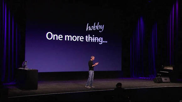 Steve Jobs introducing the Apple TV on September 1, 2010