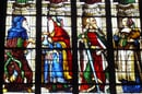 Auch stained glass window part