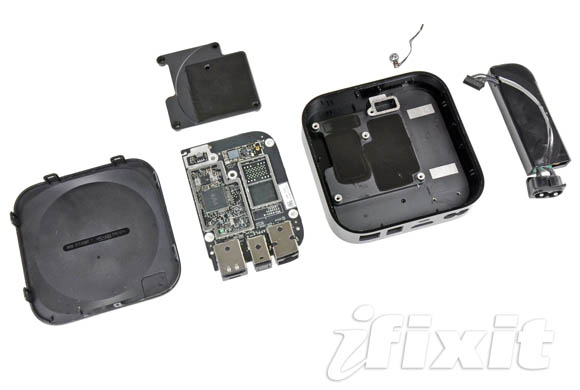 Apple TV, all parts disassembled