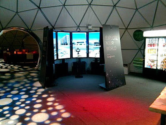 Google's Liquid Galaxy installed at the TED conference