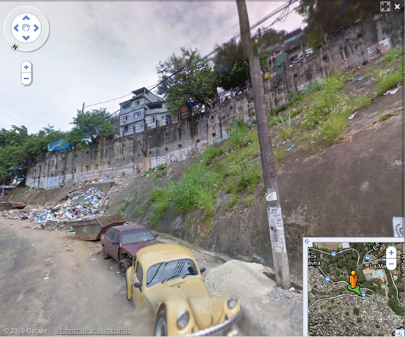 As far as the Street View vehicle goes into Rocinha