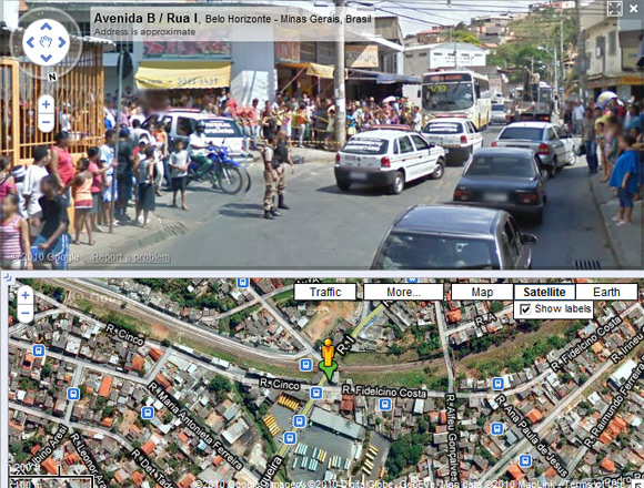The Belo Horizonte scene captured from further down the street