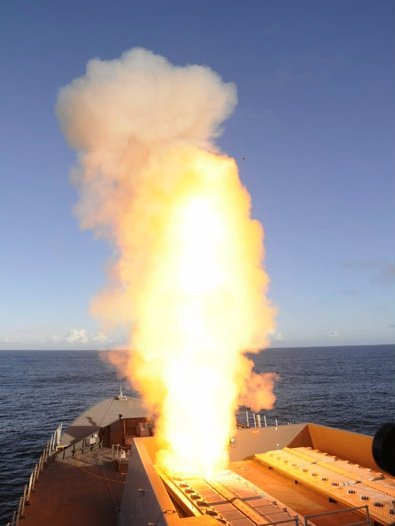 Aster missile launching from Type 45 destroyer. C