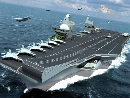 Artist's concept of the new Queen Elizabeth class carrier. Credit: RN