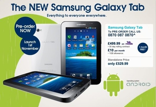 Carphone Warehouse Slashes Samsung Galaxy Tab Price The