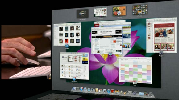 Mac OS X Lion's Mission Control feature