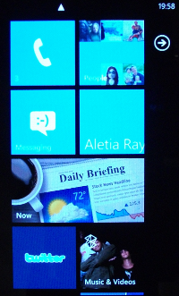 Windows Phone 7 tiles Interface