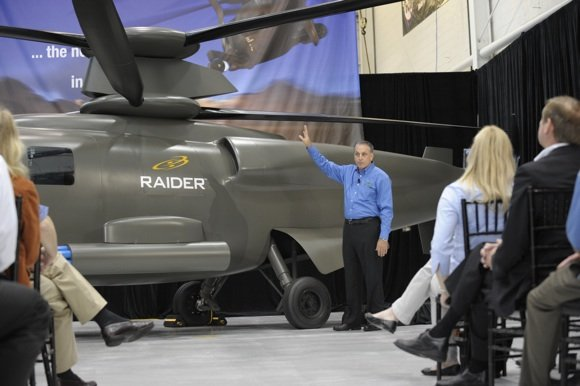 Mockup of the X2 'Raider' at a briefing. Credit: Sikorsky