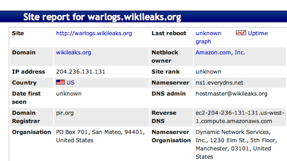 Wikileaks on Amazon