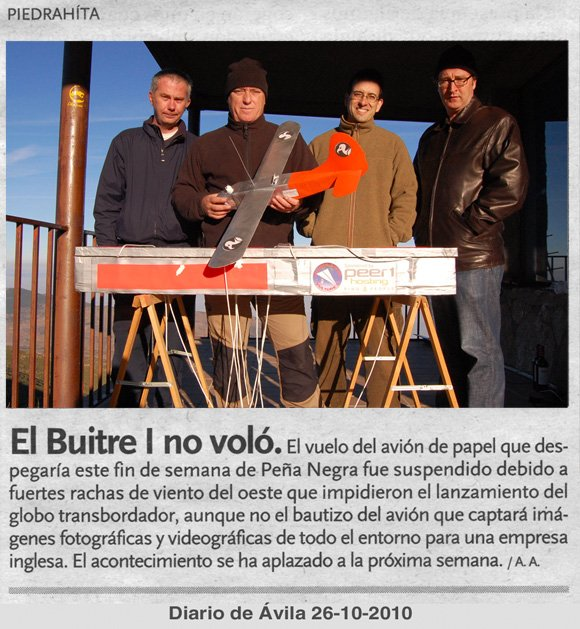 The PARIS team in the Diario de Avila