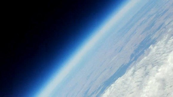 The edge of space, as seen from the video camera