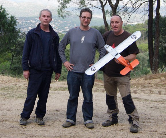Steve, John and Lester with the Vulture 1
