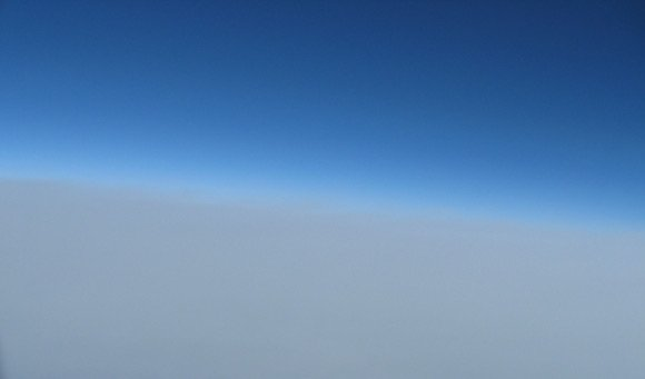 The last Canon shot, above the clouds,