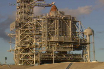 Discovery on Launch Pad 39A at the Kennedy Space Center 