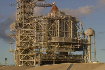 Discovery on Launch Pad 39A at the Kennedy Spa