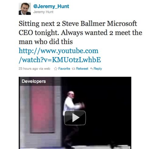 Jeremy Hunt tweet