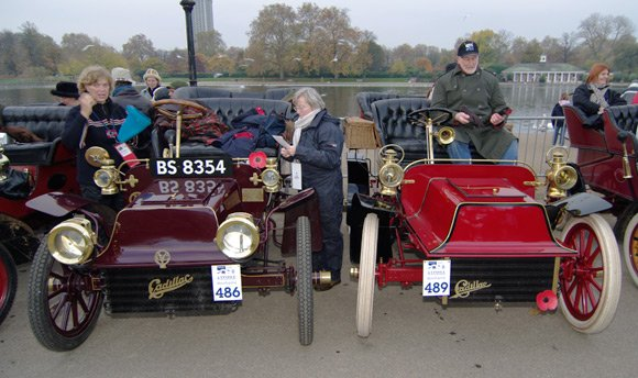 A couple of Cadillacs in Hyde Park