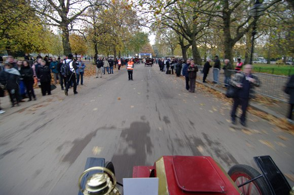 On our way out of Hyde Park