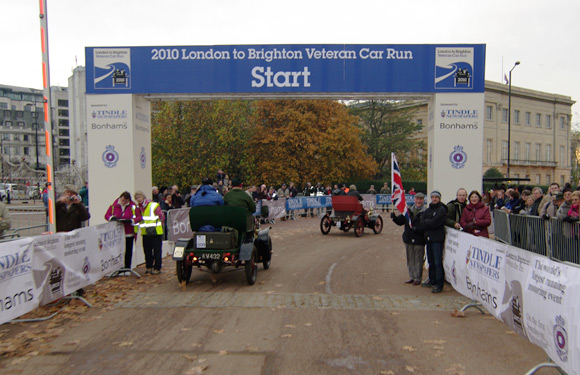 The starting gate at Hyde Park Corner