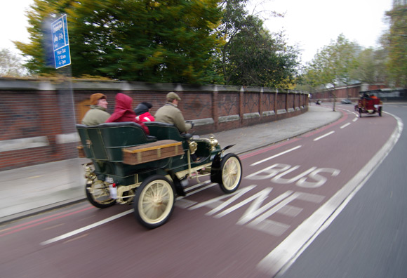 Passing another jalopy in South London