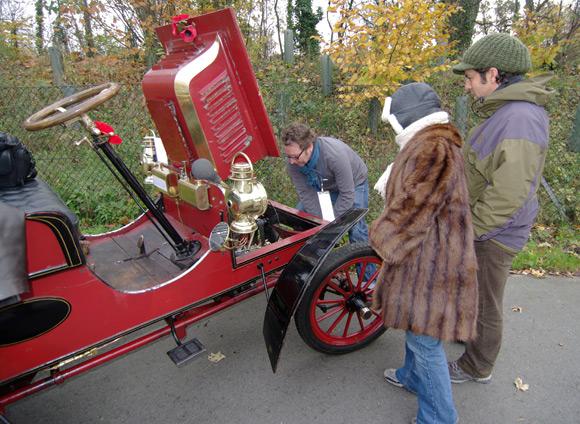 John cranking the engine close to Crawley