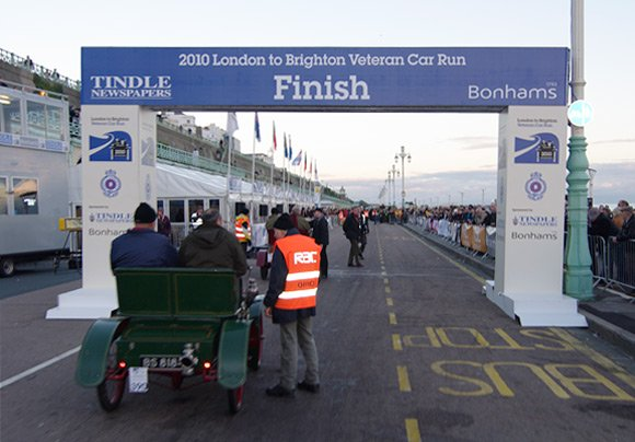 The seafront finish line