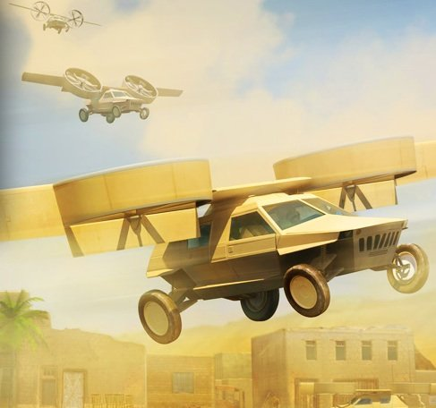 The Lockheed ducted-fan concept for the Transformer TX flying car. Credit: Lockheed