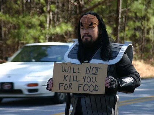 Homeless Klingon